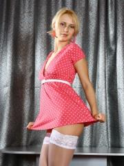 Allison elevates her Short Pink Dress