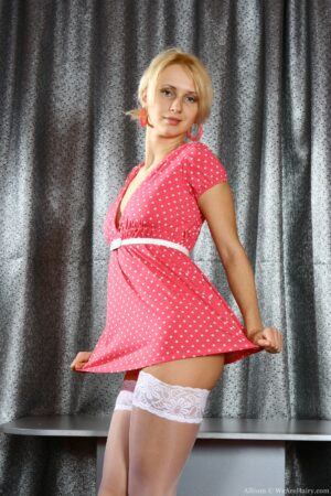 Allison elevates her Short Pink Dress