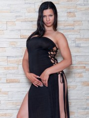 Bianka Finds the ideal ebony Dress