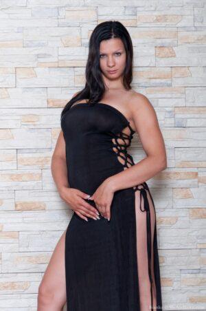 Bianka Finds the ideal ebony Dress