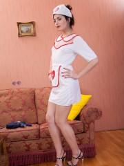 Furry Virgin Plays nasty Nurse