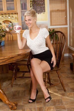 Fantastic Chloe Camilla Finishes her Tea
