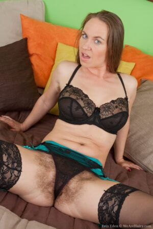 Erin Eden Looks wonderful in her ebony panties