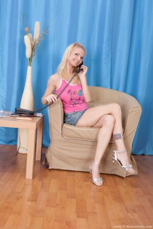 Jessy the Blonde sweetheart is on Hold