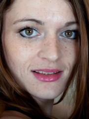 Furry Woman Louise Harmen Removes ebony Dress