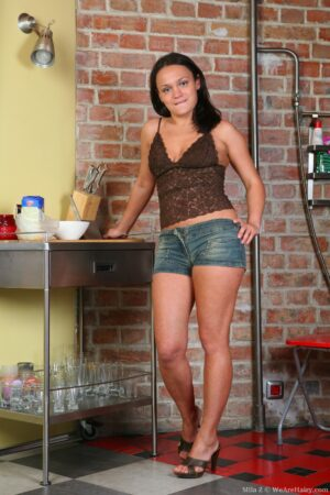 Mila Z Uses Flour to find the Wet Spot