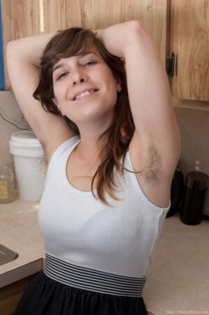 Fur covered Nixi Gets Frisky in the Kitchen