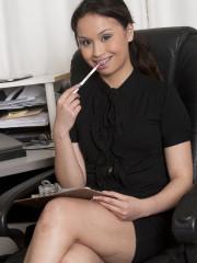 Sasha Yung the unshaven Asian Secretary