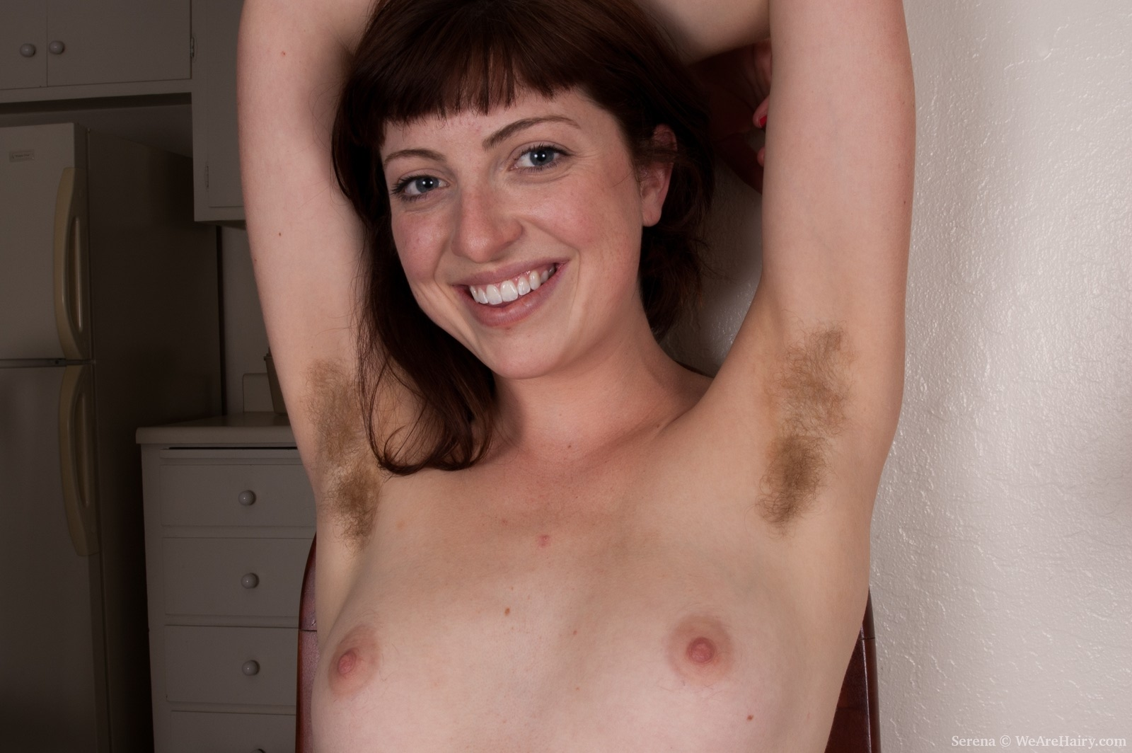 Red haired woman with hairy pussy and armpits, serena grandi is playing miranda and getting fucked