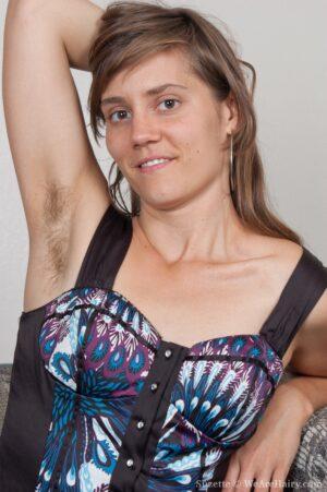 Suzette enjoys her Sheer ebony stockings