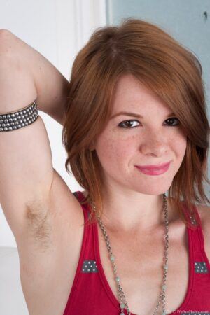 See sexy hairy redhead Zia pose fiery hot
